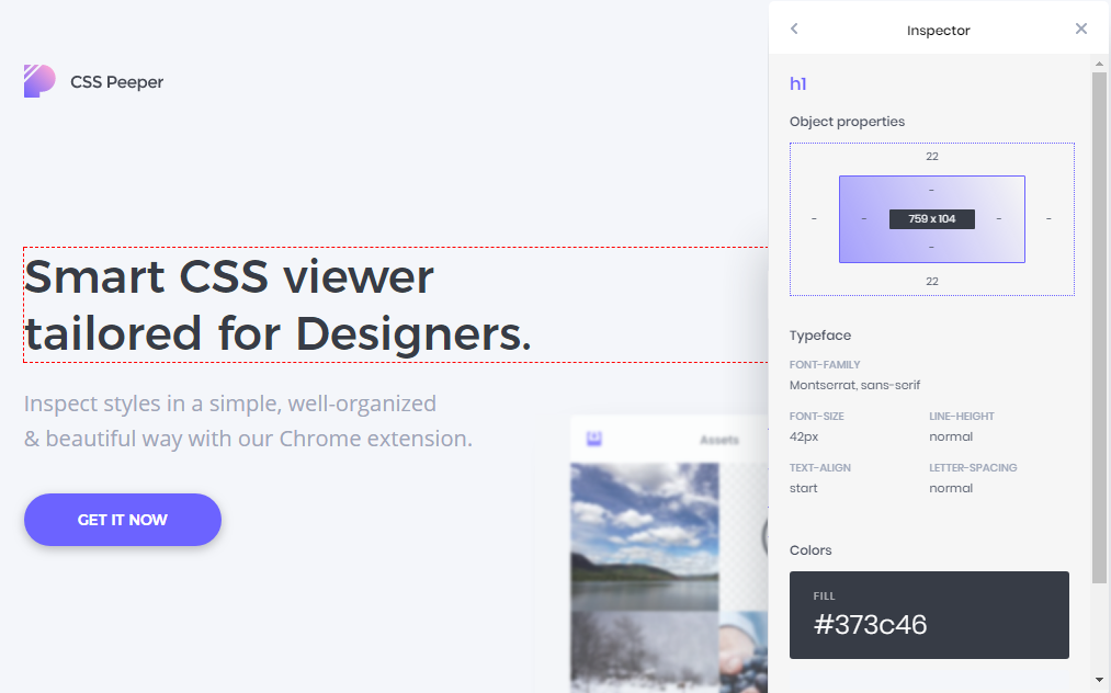 css-peeper-fuente-y-color-sitio-web-element